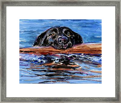 Framed Print featuring the painting Make Wake by Molly Poole