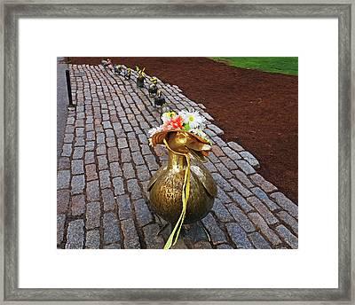 Make Way For Ducklings Spring Bonnets Boston Ma Public Garden Framed Print