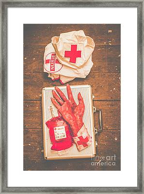 Make Your Own Frankenstein Medical Kit  Framed Print