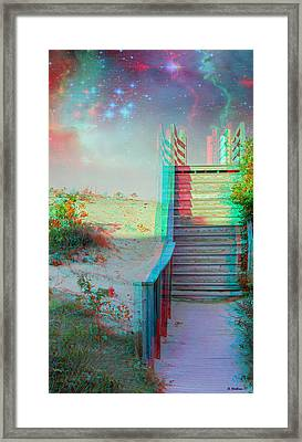 Make Your Own Heaven - Use Red-cyan 3d Glasses Framed Print