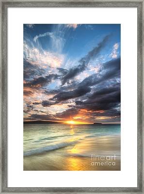 Makena Beach Maui Hawaii Sunset Framed Print