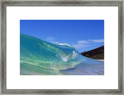 Makena Glass Framed Print