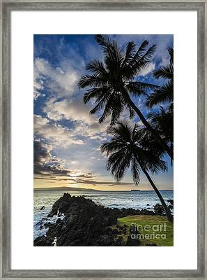 Makena Maui Hawaii Sunset Framed Print by Dustin K Ryan