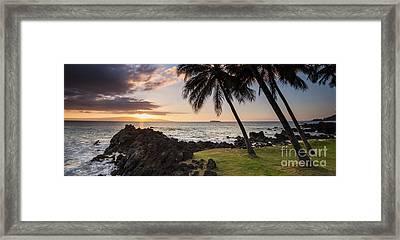 Makena Sunset Maui Hawaii Framed Print by Dustin K Ryan