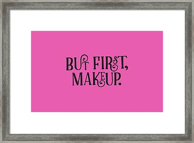 Makeup  Framed Print by Elizabeth Taylor