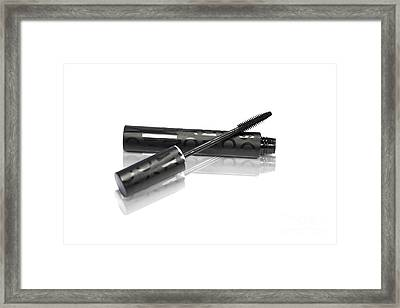 Makeup Mascara And Brush Framed Print by Jorgo Photography - Wall Art Gallery