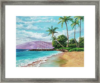 Framed Print featuring the painting Makila Beach by Darice Machel McGuire