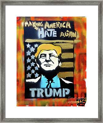 Making America Hate 1 Framed Print by Tony B Conscious