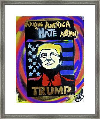 Making America Hate 2 Framed Print by Tony B Conscious