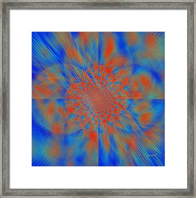 Making Art To Free Colors Framed Print by Fania Simon