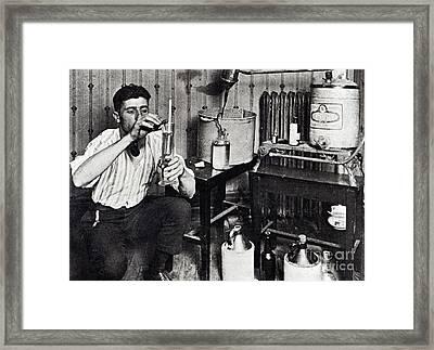 Making Bootleg Liquor Framed Print by American School