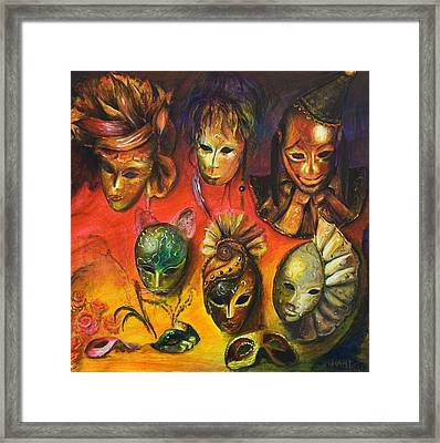 Making Faces IIi Framed Print