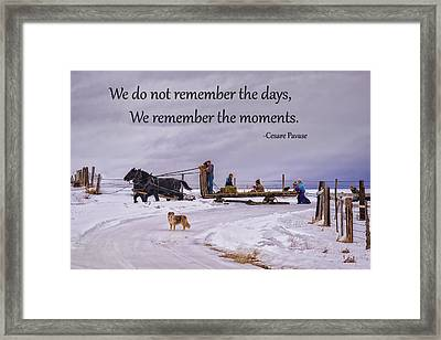 Making Family Memories Framed Print by Priscilla Burgers