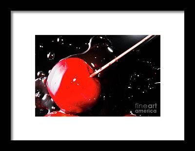Candy Apples Framed Prints