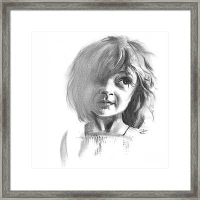 Making Marks And Coaxing Emotions 1 Framed Print