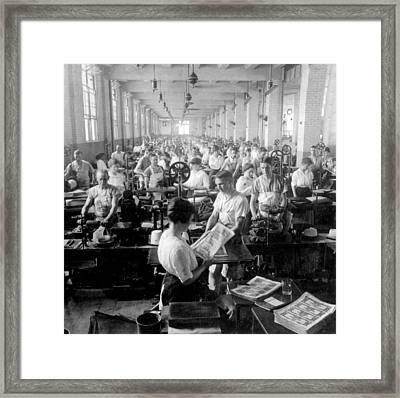 Making Money At The Bureau Of Printing And Engraving - Washington Dc - C 1916 Framed Print by International  Images