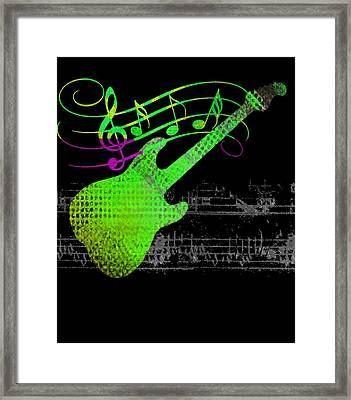 Framed Print featuring the digital art Making Music by Guitar Wacky