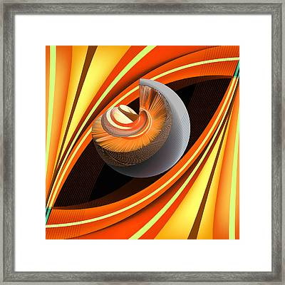 Framed Print featuring the digital art Making Orange Planets by Angelina Vick