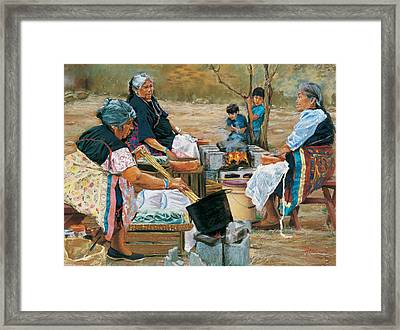 Making Piki Bread Framed Print