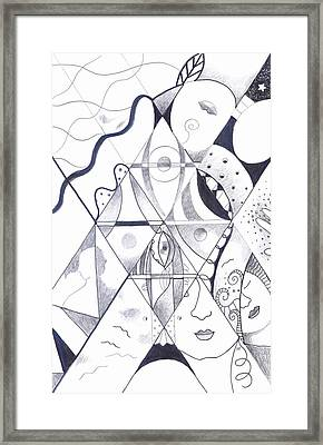 Making Points In Multiple Perspectives Framed Print