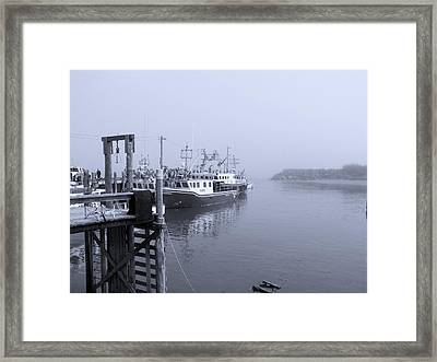 Making Ready The Nets Framed Print by Adrienne Talbot