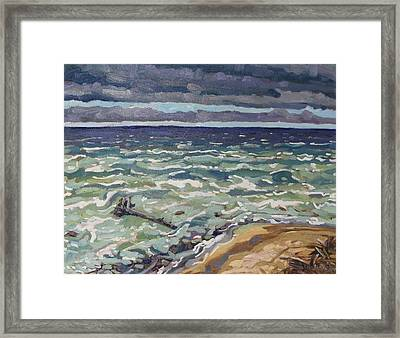 Making Waves In Oil Framed Print by Phil Chadwick