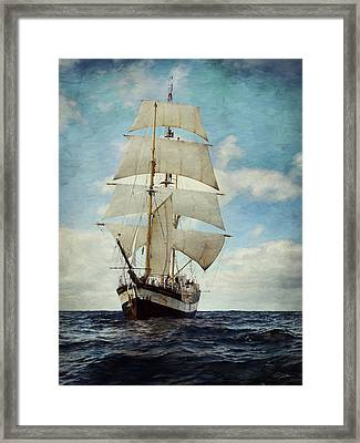 Making Way Framed Print by Peter Chilelli