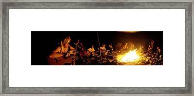 Makua Bonfire 2010 Framed Print by Erika Swartzkopf