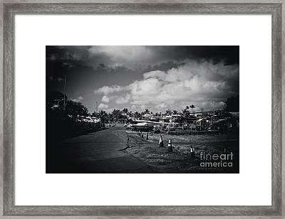 Framed Print featuring the photograph Mala Wharf Ala Moana Street Lahaina Maui Hawaii by Sharon Mau