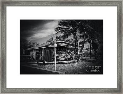 Framed Print featuring the photograph Mala Wharf Showers Lahaina Maui Hawaii by Sharon Mau