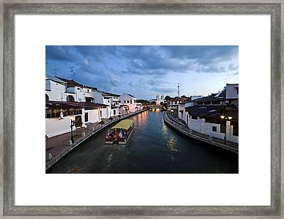 Malacca River Framed Print by Ng Hock How