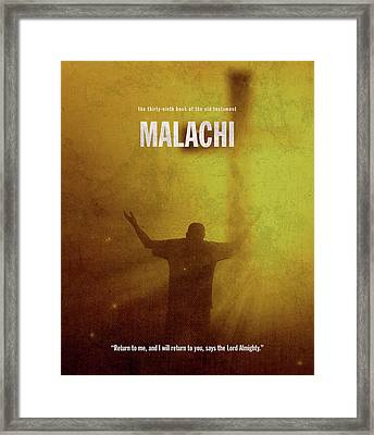 Malachi Books Of The Bible Series Old Testament Minimal Poster Art Number 39 Framed Print