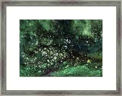 Malachite- Abstract Art By Linda Woods Framed Print