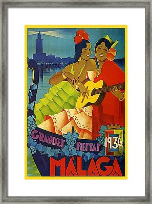 Malaga, Andalusia, Grand Fiesta, Spain Framed Print