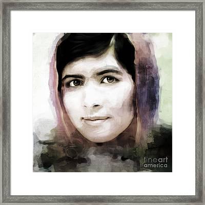 Malala Yousaf Zai 10 Framed Print