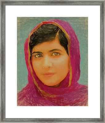 Malala Yousafzai Framed Print by Dan Sproul