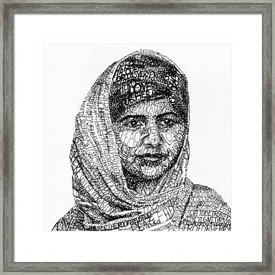 Malala Yousafzai Framed Print by Michael Volpicelli