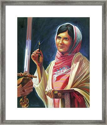 Malala Yousafzai Framed Print