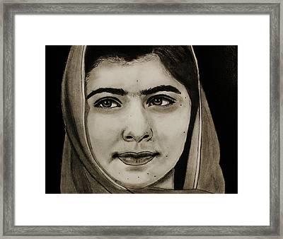 Malala Yousafzai- Teen Hero Framed Print by Michael Cross