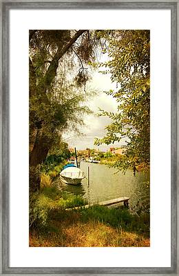 Framed Print featuring the photograph Malamocco Canal No1 by Anne Kotan
