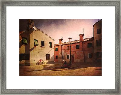 Framed Print featuring the photograph Malamocco Corner No2 by Anne Kotan
