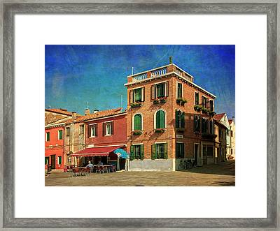 Framed Print featuring the photograph Malamocco Corner No3 by Anne Kotan
