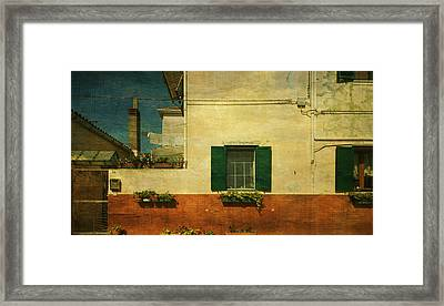 Framed Print featuring the photograph Malamocco Facade No1 by Anne Kotan