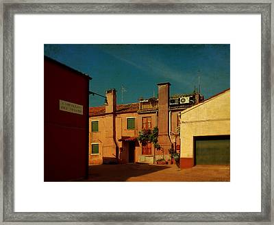Framed Print featuring the photograph Malamocco House No2 by Anne Kotan