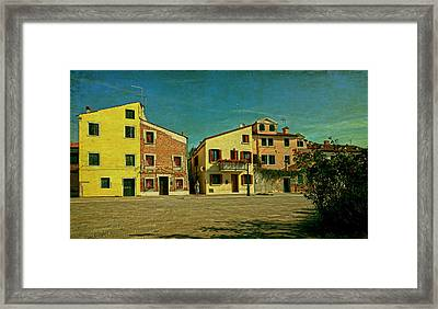 Framed Print featuring the photograph Malamocco Main Street No1 by Anne Kotan