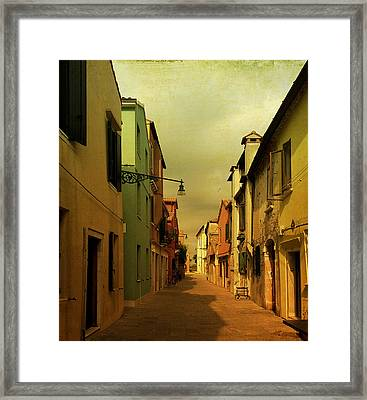 Malamocco Perspective No1 Framed Print by Anne Kotan