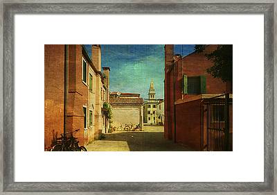 Malamocco Perspective No3 Framed Print by Anne Kotan