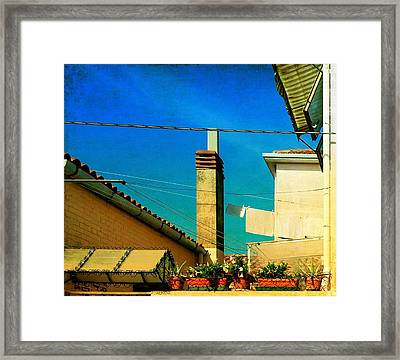 Framed Print featuring the photograph Malamoccoskyline No1 by Anne Kotan