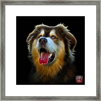 Framed Print featuring the painting Malamute Dog Art - 6536 - Bb by James Ahn