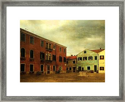 Framed Print featuring the photograph Malamocco Piazza No1 by Anne Kotan